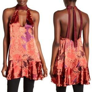 FREE PEOPLE Lady Love Silk Blend Tunic Top